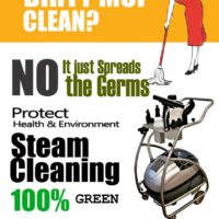 Can a Dirty Mop Clean? How About Steam Cleaning!