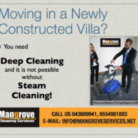 Moving-in Cleaning in a Newly Constructed Villa
